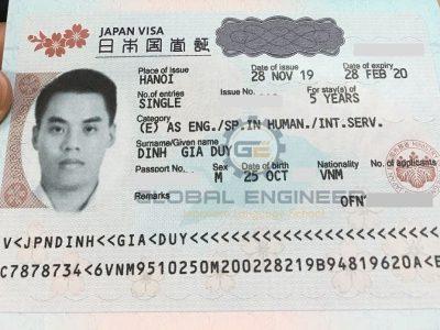 Global Engineer candidate receives 5-year engineer visa