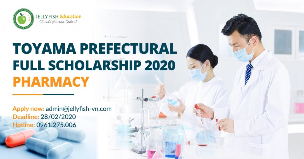 Toyama prefectural full scholarship 2020 on Pharmacy