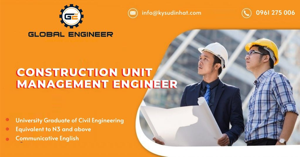 [KT060421] Construction Unit Management Engineer