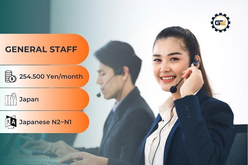 General staff working in Japan