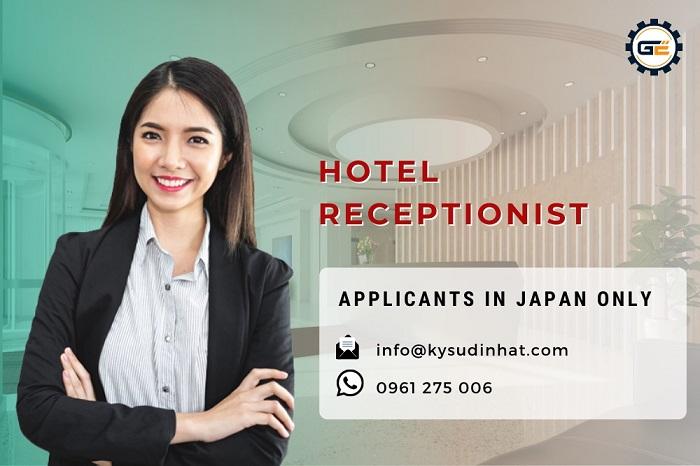 Hotel receptionist working in Ibaraki, Japan – (Applicants in Japan only)