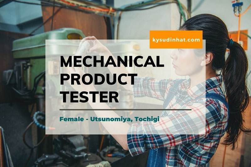 Recruiting Female Mechanical product tester at Tochigi